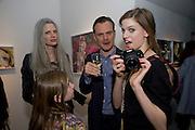 KRISTEN MCMENEMY; MILES ALDRIDGE; RITA ALDRIDGE; LILY ALDRIDGE.  Miles Aldridge exhibition. Hamiltons. Carlos Place, London.  31 March 2009