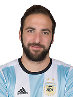 Conmebol - World Cup Fifa Russia 2018 Qualifier / <br /> Argentina National Team - Preview Set - <br /> Gonzalo Higuain