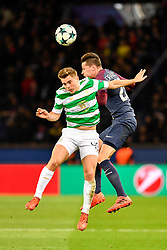 PARIS, Nov. 23, 2017  Julian Draxler (R) of Paris Saint-Germain competes with James Forrest of Celtic FC during the Group B match of 2017-18 UEFA Champions League in Paris, France on Nov. 22, 2017. Paris Saint-Germain won 7-1 at home. (Credit Image: © Chen Yichen/Xinhua via ZUMA Wire)