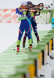 Teja Gregorin of Slovenia during the Women 7,5 km Sprint of the e.on IBU Biathlon World Cup on Saturday, December 18, 2010 in Pokljuka, Slovenia. The fourth e.on IBU World Cup stage is taking place in Rudno polje - Pokljuka, Slovenia until Sunday December 19, 2010. (Photo By Vid Ponikvar / Sportida.com)