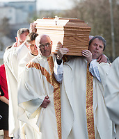 The funeral of former Bishop of Galway Dr. Eamonn Casey at Galway Cathedral whose remains  was entombed in the crypt.<br />  Photo: Andrew Downes,  xposure