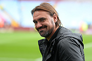 A smiling Norwich City Manager Daniel Farke during the EFL Sky Bet Championship match between Aston Villa and Norwich City at Villa Park, Birmingham, England on 19 August 2017. Photo by Dennis Goodwin.