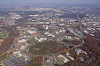 Aerial photograph of Virginia office park
