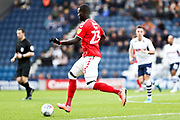 Charlton Athletic defender Mouhamadou-Naby Sarr (23) in action during the EFL Sky Bet Championship match between Preston North End and Charlton Athletic at Deepdale, Preston, England on 18 January 2020.