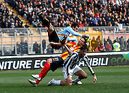 ITALY, Lecce :Toni J Ferrario Rosati L  during the Serie A match between Lecce and Juventus at Stadio Via del Mare in Lecce on February 20, 2011. .AFP PHOTO / GIOVANNI MARINO
