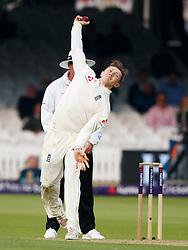 England's Dom Bess during day one of the First NatWest Test Series match at Lord's, London.
