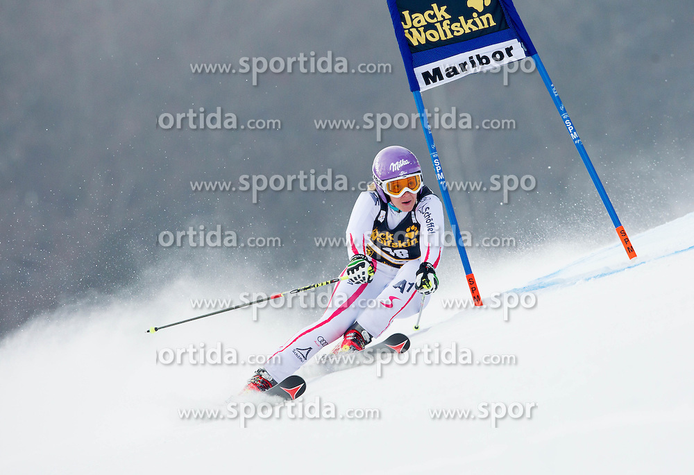 "KIRCHGASSER Michaela of Austria competes during 1st Run of FIS Alpine Ski World Cup 7th Ladies' Giant Slalom race named ""49th Golden Fox 2013"", on January 26, 2013 in Mariborsko Pohorje, Maribor, Slovenia. (Photo By Vid Ponikvar / Sportida.com)"