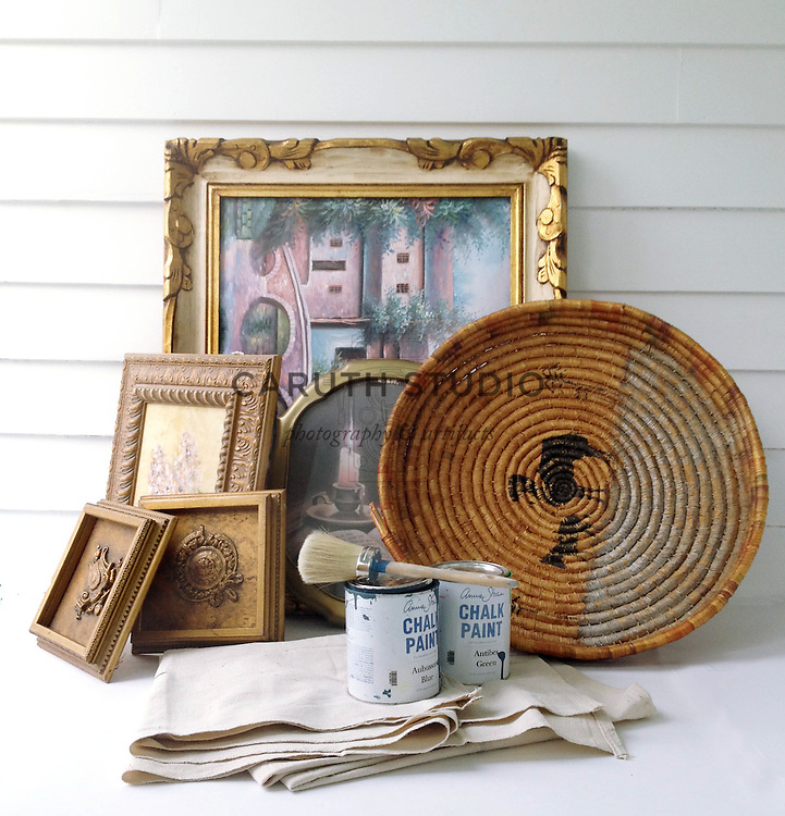Wall decor projects before paint makeovers