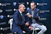 Egidio Bianchi, Paolo Citrini<br /> Presentazione Banco di Sardegna Dinamo Sassari alle Autorità e Sponsor<br /> Alghero, Tenute Sella e Mosca, 05/09/2018<br /> Foto L.Canu / Ciamillo-Castoria