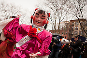 Costumed figure celebrating the Year of the Dragon.