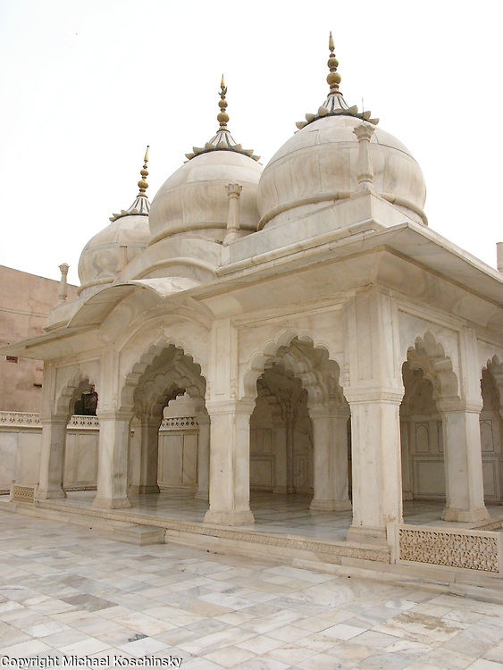 One of the Mosques in the Fort of Agra