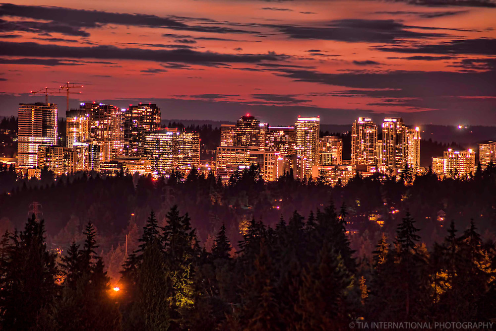 Bellevue Skyline with Burnt Sunset