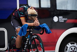 Trixi Worrack (GER) warms up at Ladies Tour of Norway 2018 Team Time Trial, a 24 km team time trial from Aremark to Halden, Norway on August 16, 2018. Photo by Sean Robinson/velofocus.com