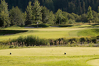 A tee box at Nicklaus North Golf Course, Whistler, BC Canada.