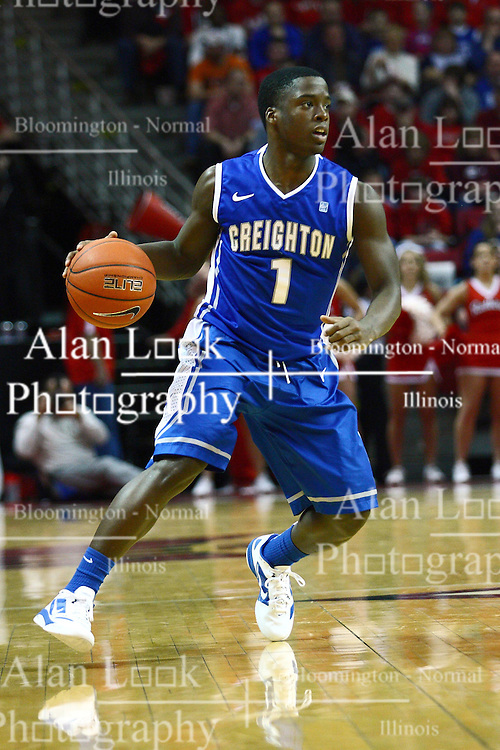 13 January 2012:  Austin Chatman during an NCAA Missouri Valley Conference mens basketball game where the Creighton Bluejays topped the Illinois State Redbirds 87-78 in Redbird Arena, Normal IL