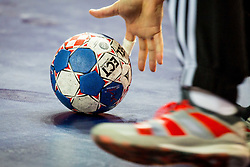 EHF Euro 2018 Ball during handball match between National teams of Belarus and France on Day 4 in Preliminary Round of Men's EHF EURO 2018, on January 16, 2018 in Arena Zatika, Porec, Croatia. Photo by Ziga Zupan / Sportida