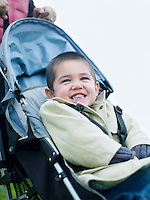 Little Boy in Stroller