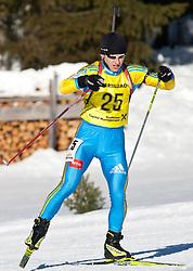 12.12.2010, Biathlonzentrum, Obertilliach, AUT, Biathlon Austriacup, Verfolgung Men, im Bild Oleksandr Dakhno (UKR, #25). EXPA Pictures © 2010, PhotoCredit: EXPA/ J. Groder