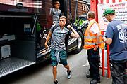 Leeds United defender Ezgjan Alioski (10) arriving during the EFL Sky Bet Championship match between Bristol City and Leeds United at Ashton Gate, Bristol, England on 4 August 2019.