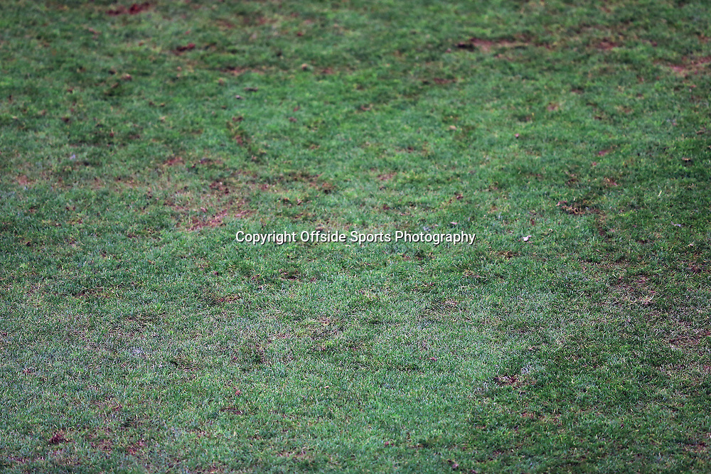 21 December 2014 - Barclays Premier League - Liverpool v Arsenal - The Anfield pitch, described as 'awful' by Liverpool Manager, Brendan Rodgers after the match - Photo: Marc Atkins / Offside.