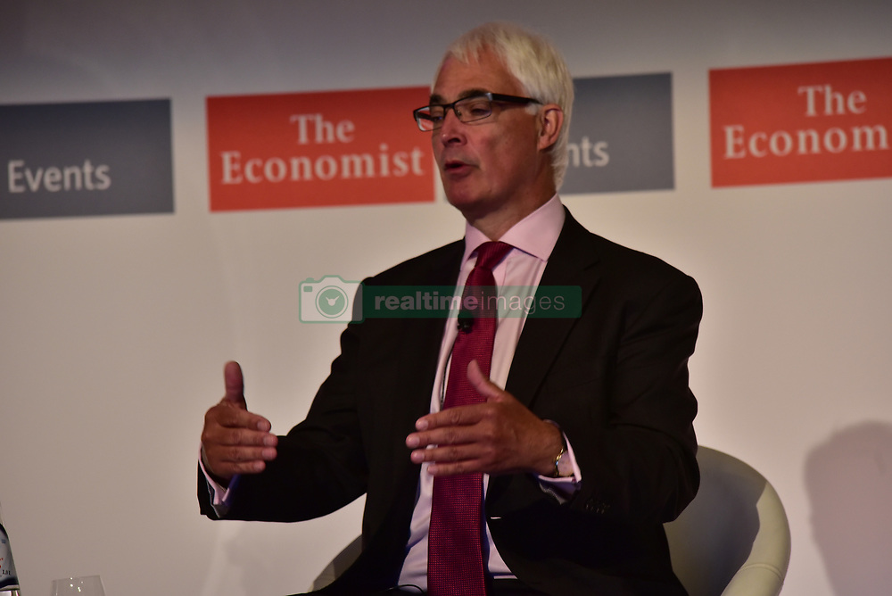June 28, 2017 - Athens, Attiki, Greece - Lord Alistair Darling, former chancellor of the exchequer of UK, during his speech in the 21st Roundtable with the Government of Greece, by the Economist. (Credit Image: © Dimitrios Karvountzis/Pacific Press via ZUMA Wire)
