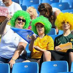 Fans of Australia during the Women's World Cup match between Australia and Brazil at Stade de la Mosson on June 13, 2019 in Montpellier, France. (Photo by Alexandre Dimou/Icon Sport)