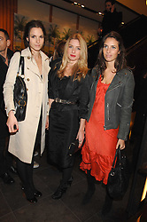 Left to right, FRAN HICKMAN, ANNABELLE WALLIS and MARINA HANBURY at a party hosted by Mulberry to celebrate the publication of The Meaning of Sunglasses by Hadley Freeman held at Mulberry 41-42 New Bond Street, London on 14th February 2008.<br />