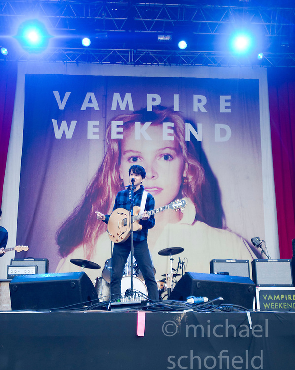 Vampire Weekend play on the main stage..Rockness, Sunday 13th June..Pic ©2010 Michael Schofield. All Rights Reserved.