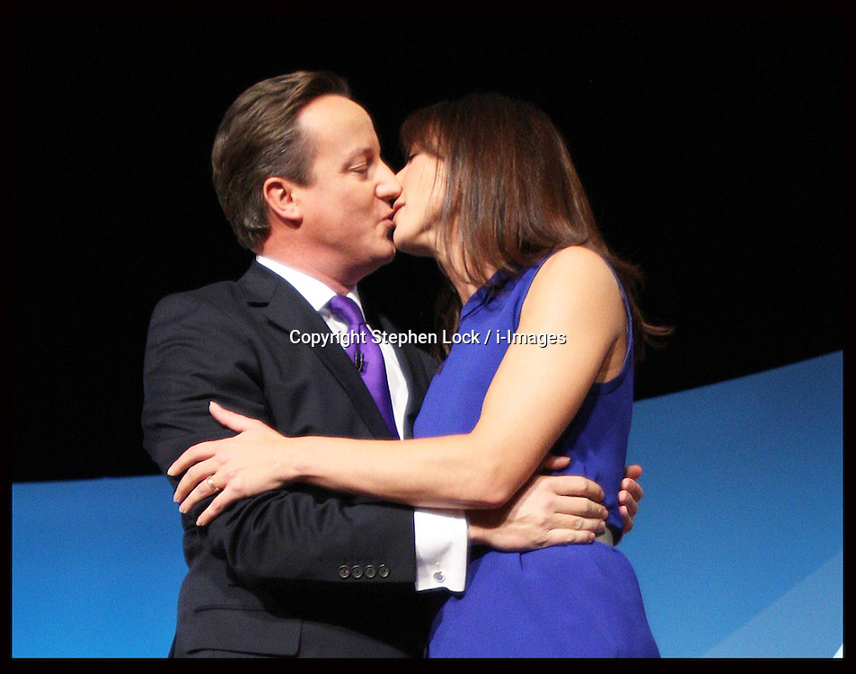 Prime Minister David Cameron and wife Samantha at the of his speech at the Conservative Party Conference  in Birmingham, Wednesday, 10th October 2012. Photo by: Stephen Lock / i-Images