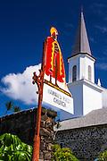 Mokuaikaua Church (Hawaii's first Christian church), Kailua-Kona, Hawaii, USA