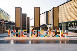 The Beach in Jumeirah Beach  district of modern Dubai, UAE, United Arab Emirates.