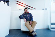 "Italy, Madonna di Campiglio, Piergiorgio VIDI ski teacher at the ""Elite School Madonna di Campiglio"""
