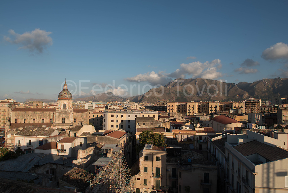 Palermo view from the bell tower of the church of Ballarò