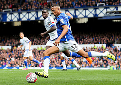 Everton's Brendan Galloway clears the ball - Mandatory byline: Matt McNulty/JMP - 07966386802 - 12/09/2015 - FOOTBALL - Goodison Park -Everton,England - Everton v Chelsea - Barclays Premier League