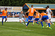 Forest Green Rovers Marcus Kelly (10) shoots at goal misses the target during the Vanarama National League match between Braintree Town and Forest Green Rovers at the Amlin Stadium, Braintree, United Kingdom on 24 September 2016. Photo by Shane Healey.