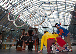 © Licensed to London News Pictures. 05/07/2012. London, England. ZooNation performing to a choreography by Kate Prince. Official launch of Big Dance 2012, the UK's biggest celebration of dance at St Pancras International Station. Photo credit: Bettina Strenske/LNP