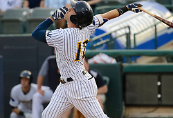 May 19, 2017 - Trenton, New Jersey, U.S - JAKE CAVE at bat for the Trenton Thunder in the game vs. the Portland Sea Dogs at ARM & HAMMER Park. (Credit Image: © Staton Rabin via ZUMA Wire)