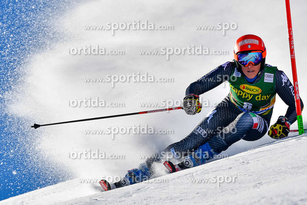 22.10.2016, Rettenbachferner, Soelden, AUT, FIS Weltcup Ski Alpin, Soelden, Riesenslalom, Damen, 1. Durchgang, im Bild Federica Brignone (ITA) // Federica Brignone of Italy in action during 1st run of ladies Giant Slalom of the FIS Ski Alpine Worldcup opening at the Rettenbachferner in Soelden, Austria on 2016/10/22. EXPA Pictures &copy; 2016, PhotoCredit: EXPA/ Nisse Schmid<br /> <br /> *****ATTENTION - OUT of SWE*****