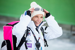 "Nezka Poljansek, physiotherapist of Maze Tina (SLO) in finish area after the FIS Alpine Ski World Cup 2014/15 5th Ladies' Slalom race named ""Snow Queen Trophy 2015"", on January 4, 2015 in Course Crveni Spust at Sljeme hill, Zagreb, Croatia.  Photo by Vid Ponikvar / Sportida"