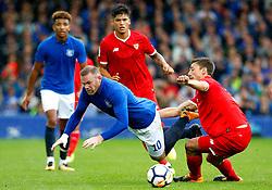 Wayne Rooney of Everton is fouled by Daniel Carrico of Sevilla - Mandatory by-line: Matt McNulty/JMP - 06/08/2017 - FOOTBALL - Goodison Park - Liverpool, England - Everton v Sevilla - Pre-season friendly