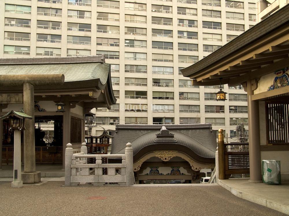 the Yushima Tenjin shrine in Tokyo Japan