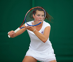 LONDON, ENGLAND - Tuesday, June 29, 2010: Nastja Kolar (SLO) during the Girls' Singles 2nd Round match on day eight of the Wimbledon Lawn Tennis Championships at the All England Lawn Tennis and Croquet Club. (Pic by David Rawcliffe/Propaganda)