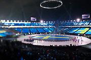 PYEONGCHANG-GUN, SOUTH KOREA - FEBRUARY 09: Athletes of Sweden during the Opening Ceremony of the PyeongChang 2018 Winter Olympic Games at PyeongChang Olympic Stadium on February 9, 2018 in Pyeongchang-gun, South Korea. Photo by Nils Petter Nilsson/Ombrello     ***BETALBILD***