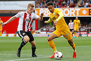 Preston North End forward Callum Robinson (37) looks to attack the goal during the EFL Sky Bet Championship match between Brentford and Preston North End at Griffin Park, London, England on 17 September 2016. Photo by Andy Walter.