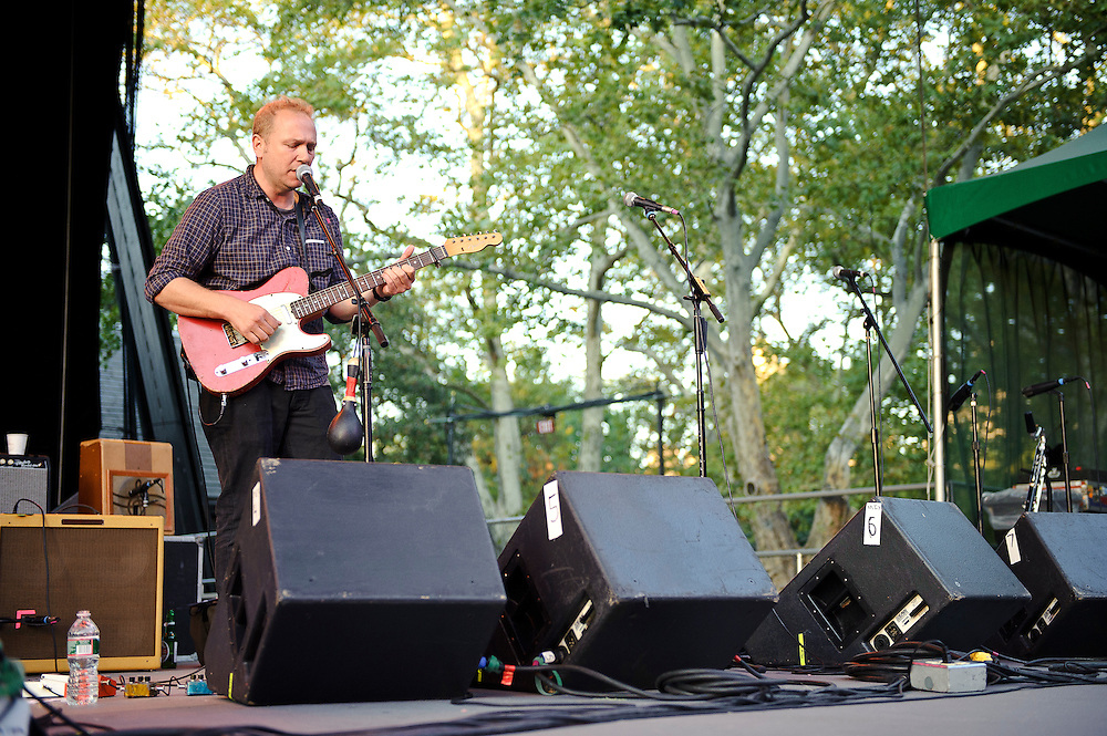 The Sea and Cake performing at Summerstage in Rumsey Playfield, Central Park NYC. September 18, 2010. Copyright © 2010 Matt Eisman. All Rights Reserved.