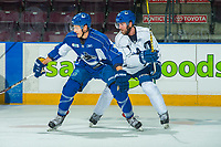 PENTICTON, CANADA - SEPTEMBER 9: Aaron Berisha #65 of Vancouver Canucks on September 9, 2017 at the South Okanagan Event Centre in Penticton, British Columbia, Canada.  (Photo by Marissa Baecker/Shoot the Breeze)  *** Local Caption ***