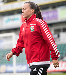 NEWPORT, WALES - Tuesday, September 20, 2016: Wales' Natasha Harding\ arrives at Rodney Parade ahead of the UEFA Women's Euro 2017 Qualifying Group 8 match against Austria. (Pic by Laura Malkin/Propaganda)