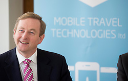 Repro Free: 20/02/2014<br /> An Taoiseach, Enda Kenny TD, is pictured at the opening of Mobile Travel Technologies Ltd (MTT) new office at Grand Canal Dublin, as it expand it&rsquo;s sophisticated mobile solutions business. Picture Andres Poveda
