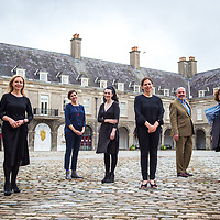 Christina Kennedy (Head of Collections, IMMA) Artists Sarah Pierce and Aideen Barry, IMMA Director Sarah Glennie, with John Cunningham and Grace Weir at the launch of IMMA 1000. Photography by Ruth Medjber