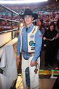 Mike Lee at The Professional Bull Rider's Built Ford Tough Invitational Draft held at Madison Square Garden on January 9, 2009 in New York City..The format of the Built Ford Tough Invitational consists of four rounds of competition with the first three rounds featuring the top 45 qualified riders randomly matched against the sport's rankest bulls.
